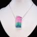 AMG Jeremy Sinkus Art Glass Tourmaline Crystal Pendant