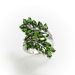 SS Chrome Diopside By-Pass Ring J1253048P