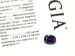 Natural No Heat Purple Sapphire Cushion Cut Gemstone GIA Report