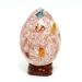 Matrix Fire Opal Egg Sphere Carving on Base