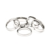Picture of Stainless Steel Comfort Fit Domed Wedding Bands J1348633P